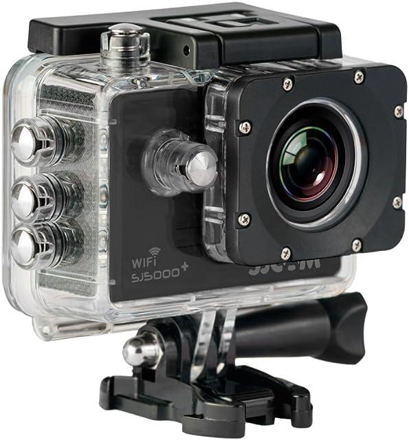 SJCam SJ5000 Plus (Versión Española) - Videocámara Deportiva con Chip Ambarella y Sensor Panasonic 16MP (WiFi Integrado LCD 1.55 2k 2560x1440/30fps Sumergible 30M) Color Negro