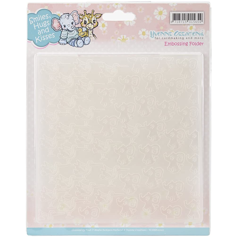 Find It Trading Smiles Hugs and Kisses Yvonne Creations Embossing Folder