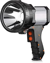BUYSIGHT Rechargeable spotlight,Spot lights hand held large flashlight 6000 lumens handheld spotlight Lightweight and Supe...