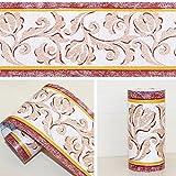 simplelife4u Peel & Stick?Cenefa para pared de dormitorio y cocina rollo de Fronteras Vintage Vine