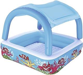 ZDYG Piscina Inflable- con el pabellon Desmontable Sombrilla Inflable del bebe Piscina- Patio de Familia Beach -147x147x122cm
