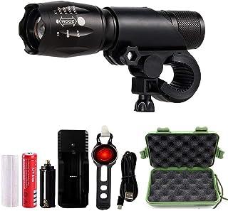 Jasonwell Luz Bicicleta Recargable 1000 lumenes Linterna LED Militar Mini Portátil Super Brillante Luz Delantera de T6 Led...