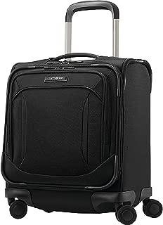 Samsonite Lineate Underseat Carry On Boarding Bag with Spinner Wheels, Obsidian Black