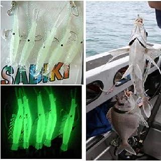 htrdjhrjy Exquisite Langostino Aparejos Brilla en la Oscuridad Cebos Pesca Señuelos Catch Ganchos Lubina de Mar para Camping, Picnic y Otro Actividades Al Aire Libre