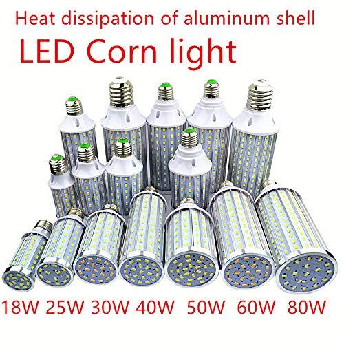 Lamp Mais 5730 LED-lamp met beschermhoes van aluminium 18W25W30W40W50W 60 W 80 W 85 - 265 V E14 E26 E27 E39 E40 LED vloerlamp stadslamp met maïs Cool Warm Wit