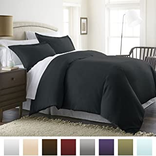 TWIN/TWIN XL 600TC WONDERFUL 100# EGYPTIAN COTTON 1PC DUVET COVER,BLACK SOLID WITH ZIPPERED CLOSURE