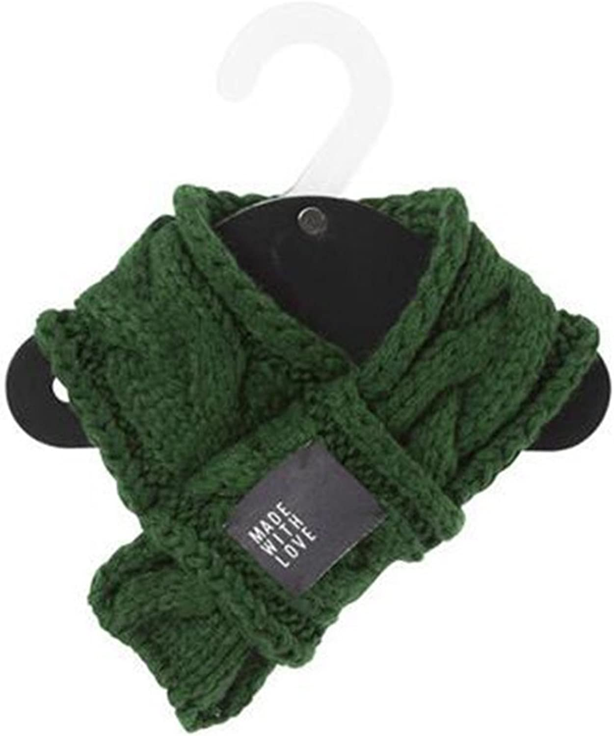 PetBoBo Pet Dog Cat Costume Apparel Winter Scarf for Dogs (M, Green)