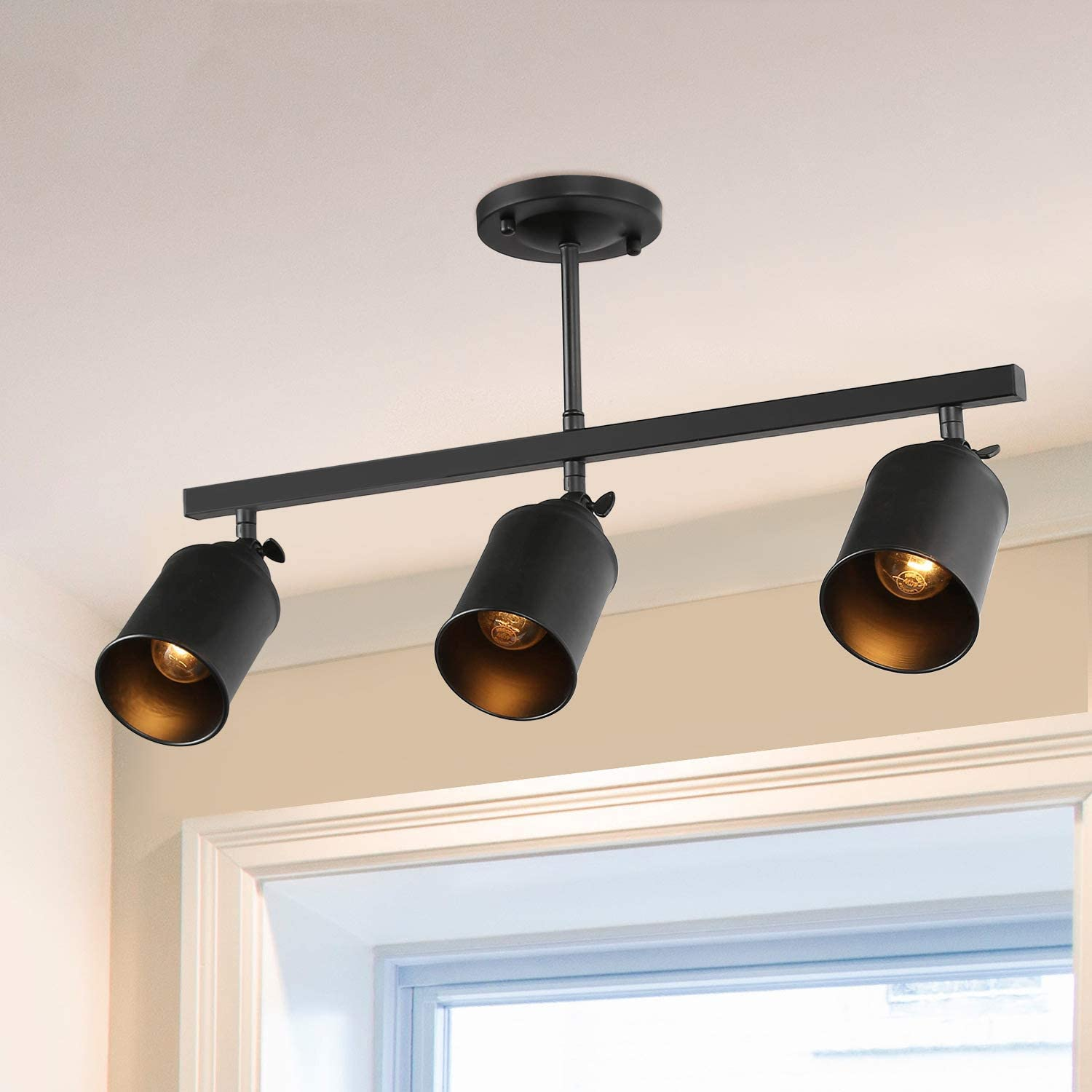 LNC 3-Light Track Lighting with Ceil Max 50% OFF Industrial Washington Mall Adjustable Heads