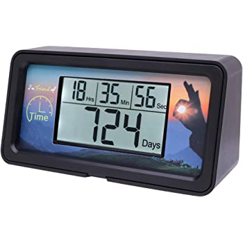 AIMILAR Digital Countdown Days Timer - 9999 Days Count Down Days Timer With Backlight for Retirement Wedding Vacation Christmas New Baby Classroom Lab Kitchen Cooking (Black)