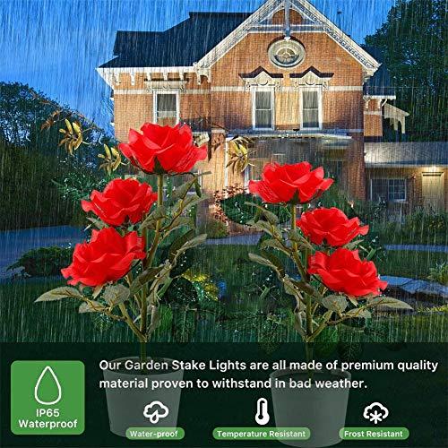 Further Solar Flower Pot 3 LED luz rosa flor lámpara de mesa decorativa planta jardín luz césped lámpara para el hogar jardín sala decoración al aire libre