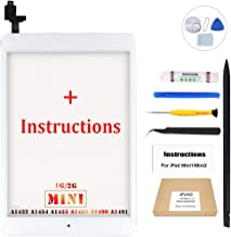 JPUNG Screen Replacement for iPad Mini 1/iPad Mini 2 (White), with Home Button, Complete Repair Tools Kit, Camera Holder, Pre-Installed Adhesive Stickers, Instructions [365 Days Warranty] …