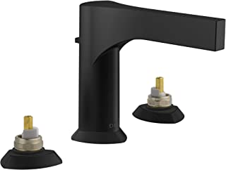 Delta Faucet 3574-BLMPU-LHP-DST Zura Two Lavatory Faucet-Less Handles Matte Black Widespread