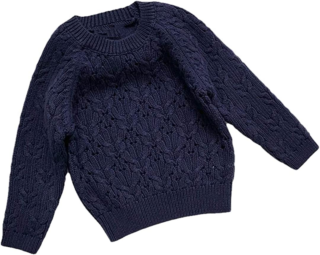 FLZS Kids Long Sleeve Knit Sweater Children Kids Boys Girls Pullover Sweaters