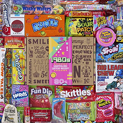VINTAGE CANDY CO. 1980's RETRO CANDY GIFT BOX - 80s Nostalgia Candies - Flashback EIGHTIES Fun Gag...