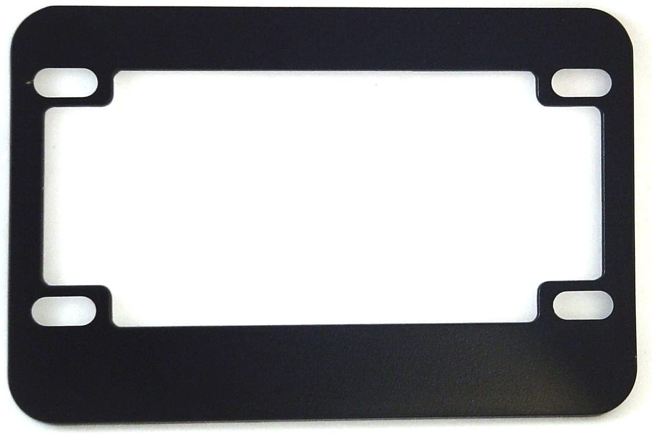 Ultra-Cheap Deals Motorcycle Max 66% OFF License Plate Frame Blank Metal Black