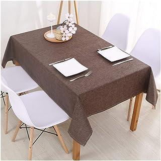 Nappes Linge De Table De Cuisine Nappe Multi Solide Couleur Décoratif Résistant À L'huile Épais Imperméable Table Rectangu...