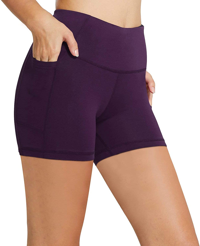 "BALEF女装8""/ 5""高腰骑自行车的骑行者短裤瑜伽锻炼运行压缩锻炼短裤侧口袋"