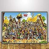 MZCYL Leinwand Malerei Wandkunst Bild Asterix Frankreich