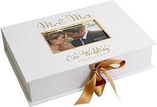 Oaktree Gifts Golden Foil Wedding A4 Keepsake Box
