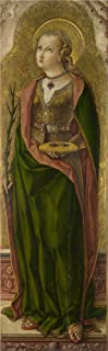 Oil Painting 'Carlo Crivelli - Saint Lucy,about 1476', 8 x 26 inch / 20 x 66 cm , on High Definition HD canvas prints is for Gifts And Bath Room, Gym And Hallway Decoration, images