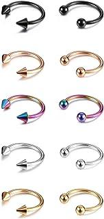 Evevil 14G 16G Septum Jewelry Surgical Steel Small Septum Ring for Women Men Nose Nostril Rings Lip Labret Cartilage Body ...