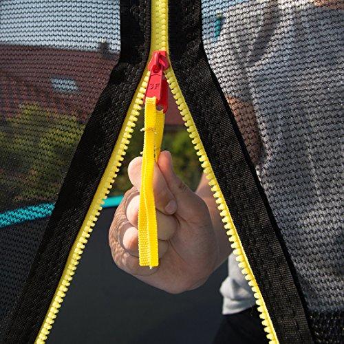 Ultrasport Gartentrampolin, Outdoor Trampolin, Kindertrampolin, 183-430cm, Sprungfedern oder innovatives Elastik Sprungssystem, inkl. Sicherheitsnetz, Witterungsbeständig, Belastbar 100-150 Kg