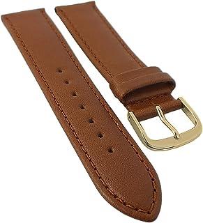Taurus 30157 - Correa de repuesto para reloj de pulsera, 12 mm y 14 mm, piel de becerro suave, con costuras, ancho de la t...