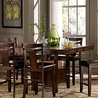 Weston Home Broome Expandable Storage Counter Height Dining Table - Dark