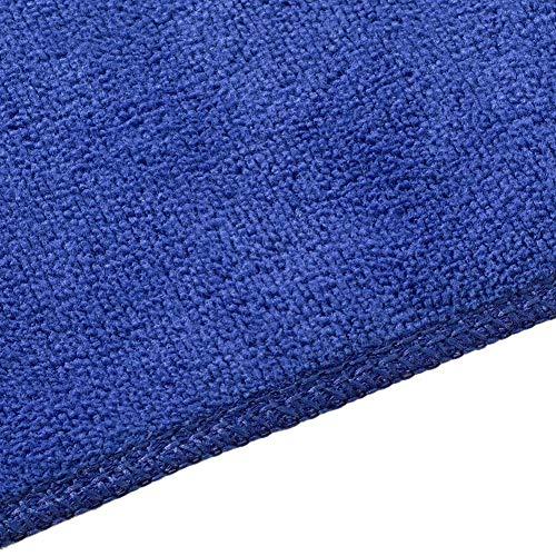 Serviette de Bain de Massage en Sauna Microfibre, Serviette de Plage absorbante Douce Accessoire de Salon de beauté(Bleu)