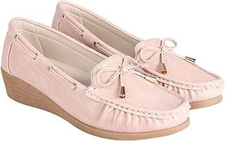Flat n Heels Womens Pink Loafer FnH X005-10-PK