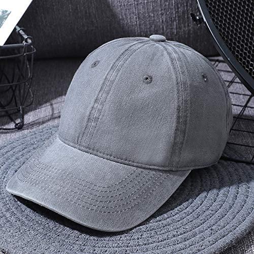 Gorra de Mujer Gorra de Hombre Gorra de papá Deporte Unisex al Aire Libre Negro algodón Gorro Gorra Deportiva de Mujer Gorra Beisbol-Light Grey