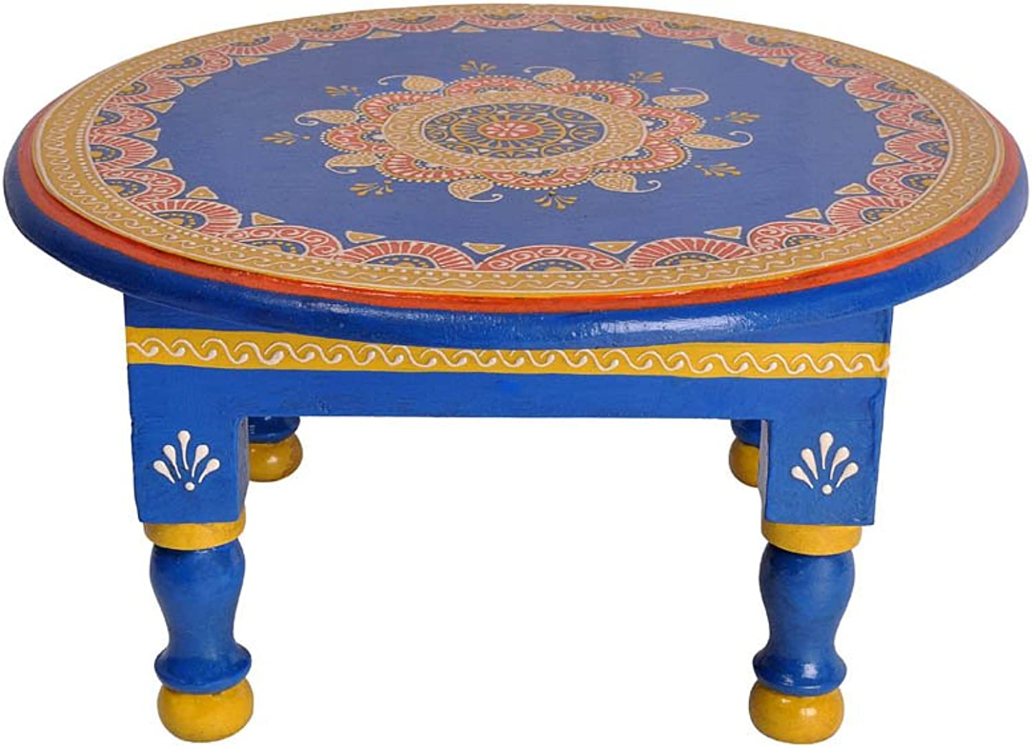Lalhaveli Wooden Small Side Tables for Small Spaces Kids Study Table12 x 12 x 6 Inch