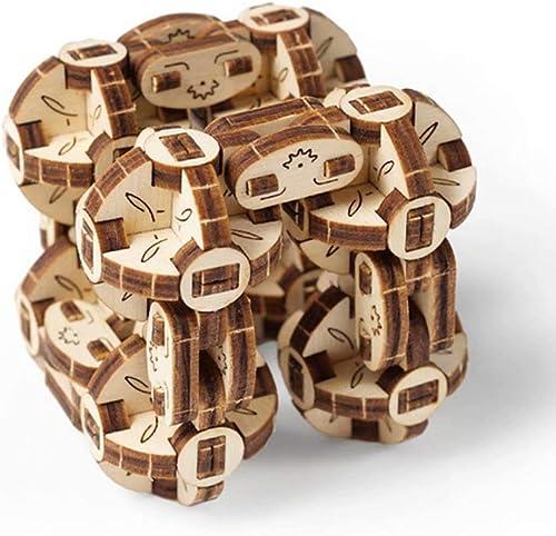 UGEARS Holz mechanische übertragung Modell Puzzle Dekompression kreative Kinderspielzeug Geschenk Fingerspitze Würfel