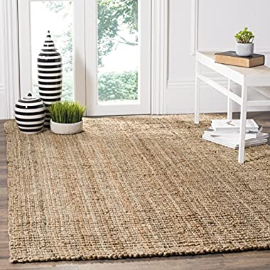 Safavieh Natural Fiber Collection NF447A Hand Woven Natural Jute Area Rug (5' x 7'6 )