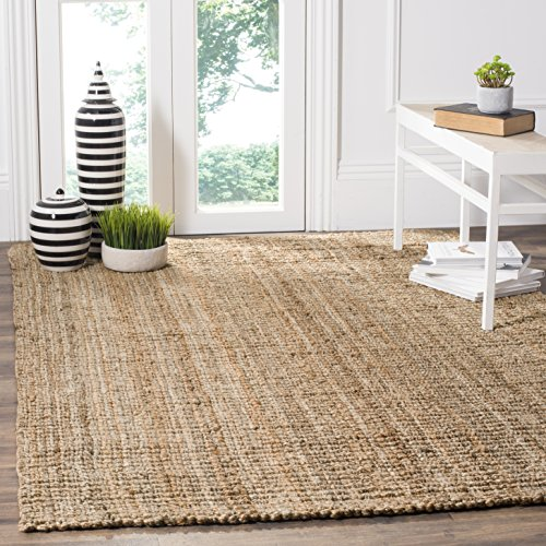 Safavieh Natural Fiber Collection NF447A Hand-woven Chunky Textured Jute Area Rug, 4' x 6'