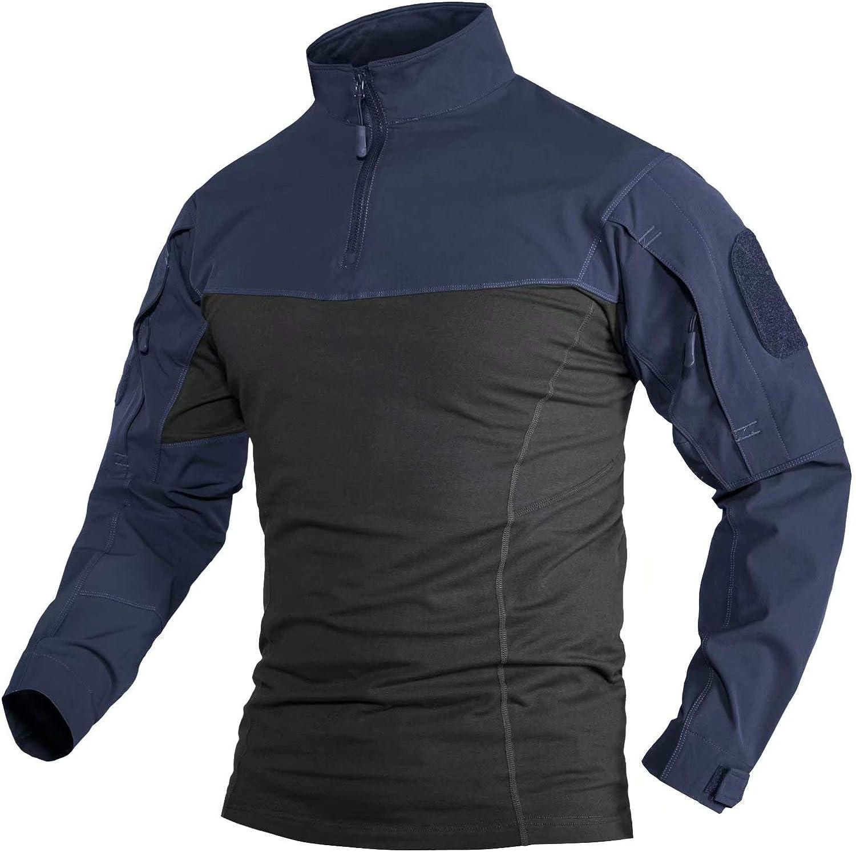 MAGCOMSEN Men's Memphis Mall 1 4 years warranty Zip Front with Shirts Tactical Military Zipp