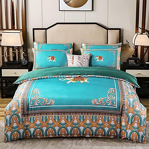 Juegos De SáBanas Infantiles 105,Edredones de seda de algodón, sábanas suaves y cómodas y cómodas sábanas para ropa de cama de sudorable transpirable, adecuados para el hotel familiar.-F_1,8 m de cam
