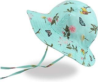 XIAOHAWANG Baby Sun Hat Summer Boy Bucket Hats Wide Brim Toddler Girl Beach Cap Child Swim UPF 50+