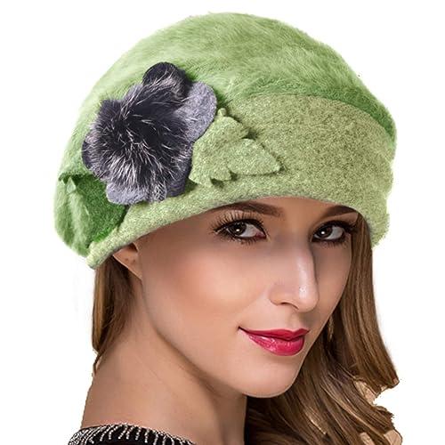 f8d0f404a6476 Ruphedy Women French Beret Knit Wool Beret Beanie Winter Dress Hats Hy022