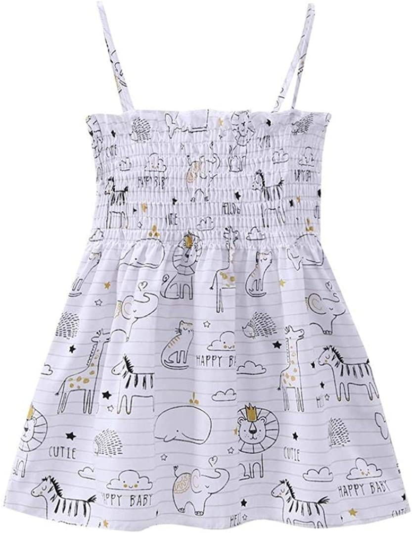 Toddler Baby Girl Summer Dress Clothes Floral Sleeveless Straps Dresses Backless Princess Sundress Playwear Outfits