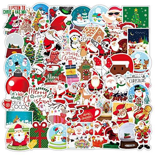 100 pegatinas navideñas para portátil, bricolaje, nevera, guitarra, equipaje, monopatín, impermeable, divertido graffiti, pegatinas para niños