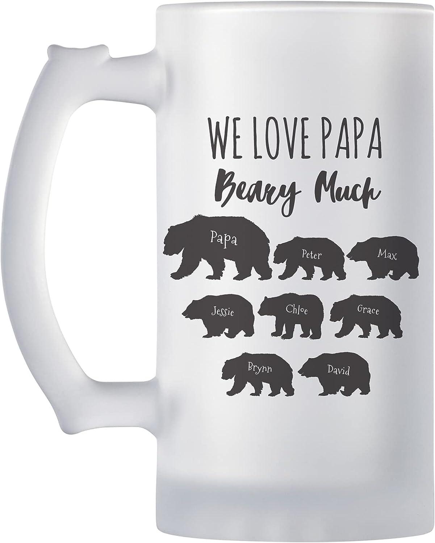 Let's Make Memories Personalized Bears Frosted Beer Mug - Celebr