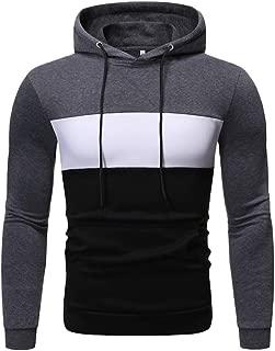 Men Hoodies Coat Winter Fashion Drawstring Print Slim Long Sleeve Casual Pullover Tops Sweatshirts Outwear Pocket 3XL
