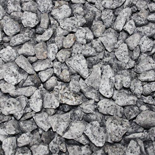 PALIGO Granit Splitt Zier Edel Kies Deko Stein Garten Natur Kiesel Dekor Grau Grob 16-22mm 20kg Sack / 1 Karton Galamio