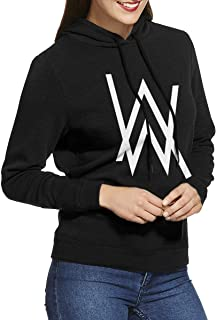 Women's Hooded Sweatshirt No Pockets Alan Walker Unique Original Style Black