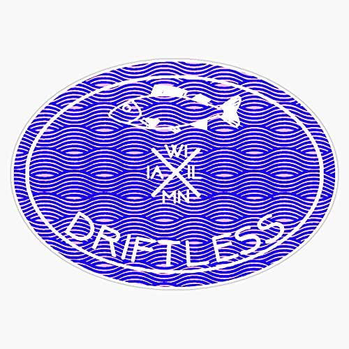 """STG Trading Driftless Vinyl Bumper Sticker Decal Waterproof 5"""""""
