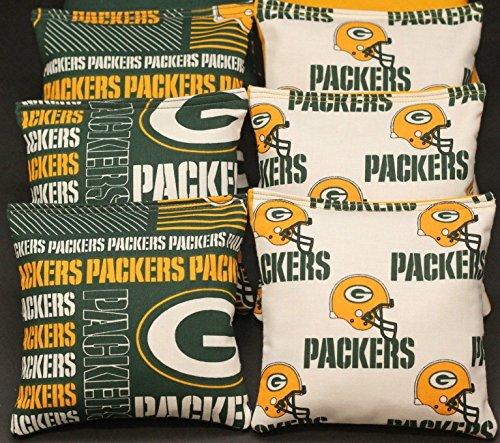BackYardGamesUSA Cornhole Bean Bags Green Bay Football 8 ACA Regulation Corn Toss Game Bags
