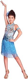 New Girls Sequined Latin Salsa Dance wear Kid Dancing Dress Costume