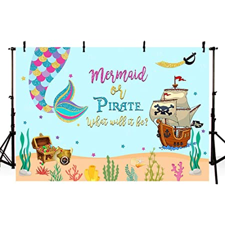 7x5ft Kids Birthday Backdrop Children Pirate Theme Party Baby Shower Photography Background Decoration Wallpaper Studio Props LYFU492
