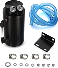 Universal Cylindrical JDM 750ml Aluminum Engine Oil Catch Can Reservoir Tank Black Car Accessory For Dodge Honda Acura Mazda Mitsubishi Nissan Infiniti Lexus Toyota Scion Ford Chevy BRZ etc